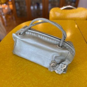 Via Spiga Metallic Leather Purse